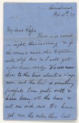 My dear Papa, letter from Henry Bottle to his father
