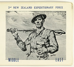 752/11. Christmas 1942. Card to Glen from Howard from the Middle East. Sent in October.