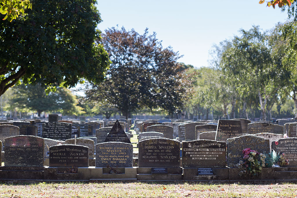 Thumbnail Image of Upright headstones at the Waimairi Cemetery