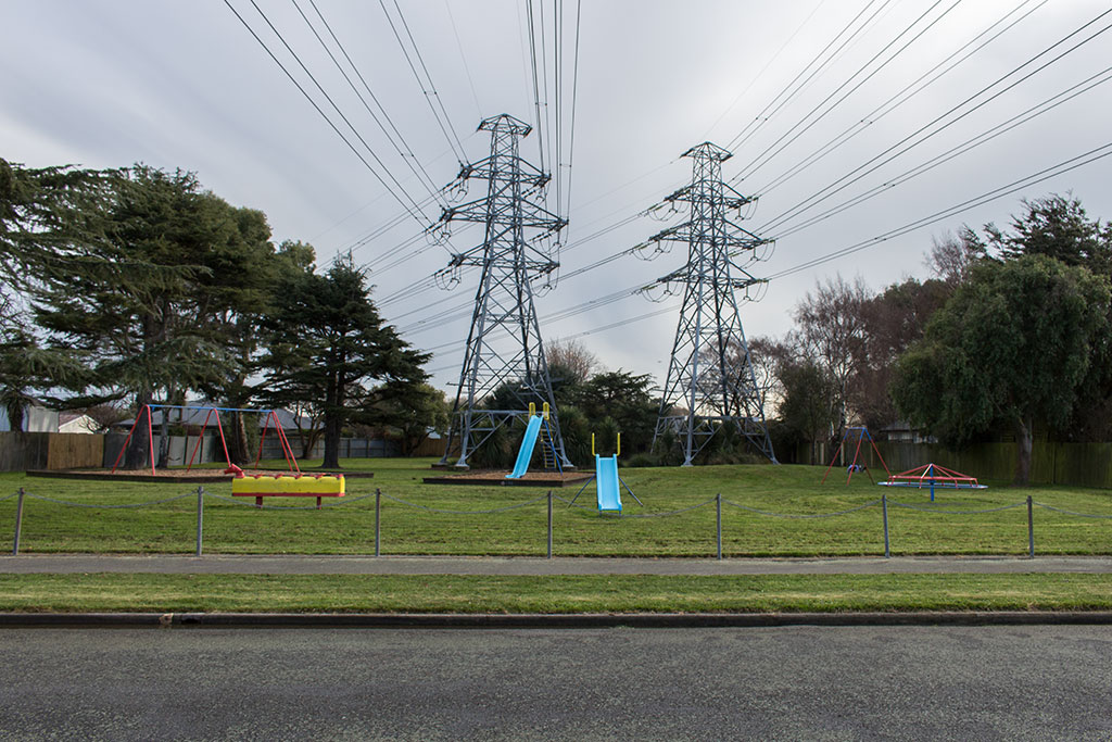 Thumbnail Image of Playground underneath two power pylons at Armitage Reserve