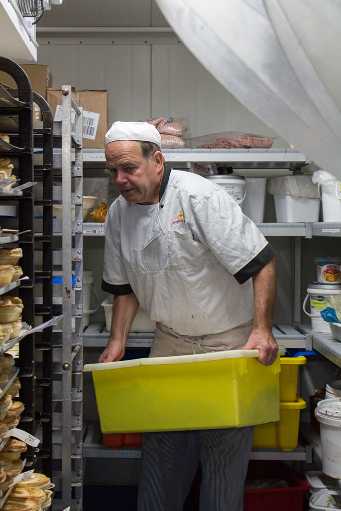 Thumbnail Image of Head chef at Copenhagen Bakery grabbing food from the freezer