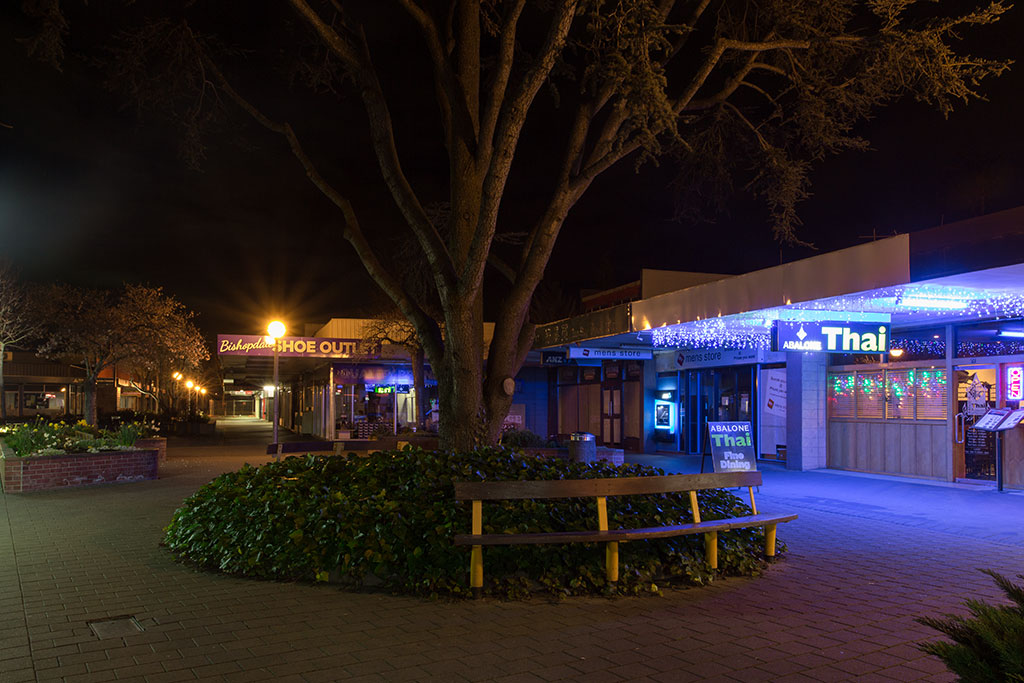 Thumbnail Image of Bishopdale Village Mall at night