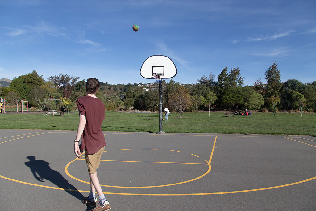 Thumbnail Image of Matt S at the public basketball courts