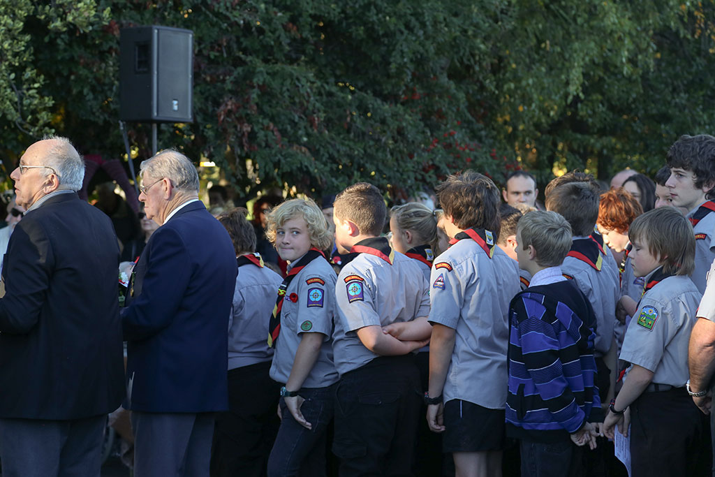 Thumbnail Image of Scouts, at the ANZAC Day memorial service