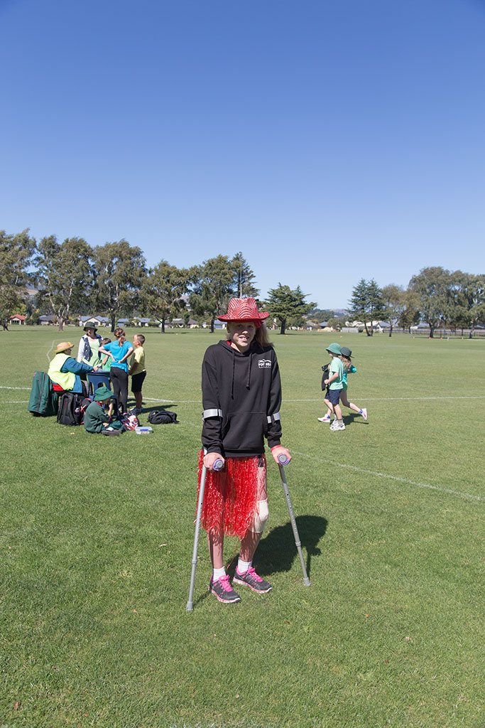 Thumbnail Image of Oaklands' School head girl Jacqueline at an annual school sports event
