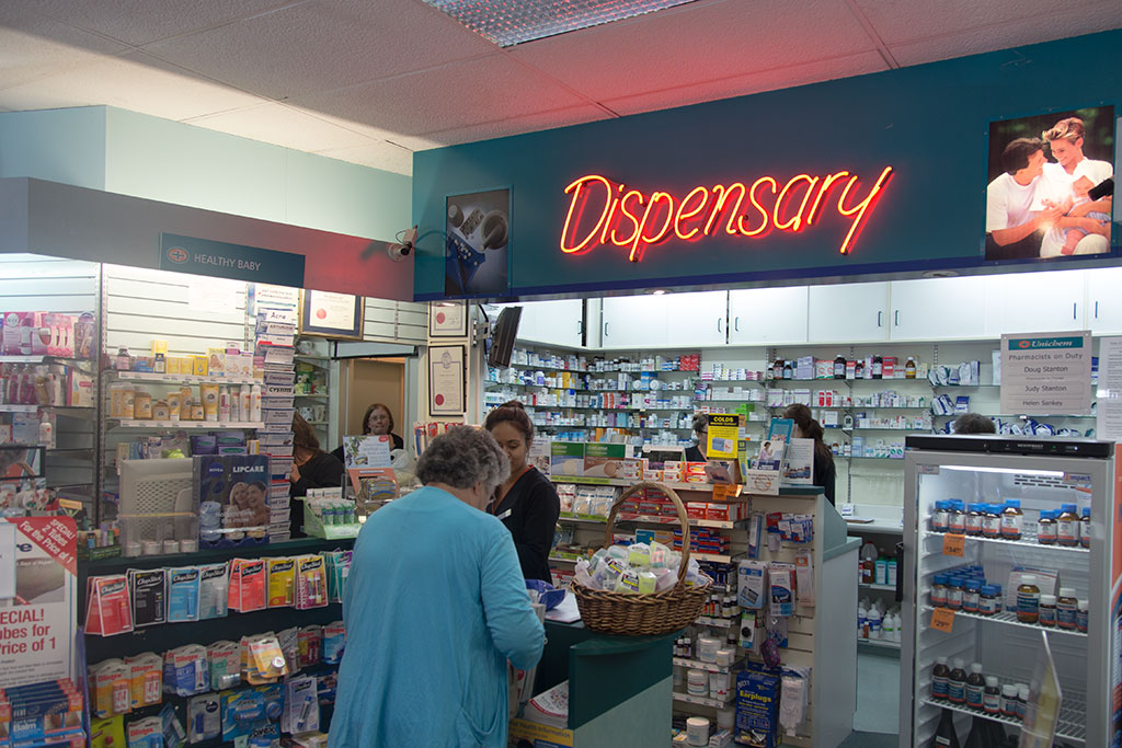 Thumbnail Image of Inside the local pharmacy before relocation