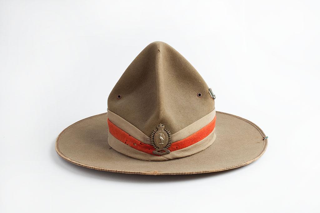 Hat, Felt, Peaked Crown, Type 2 variation [circa 1910-1920]. Barry O'Sullivan collection.